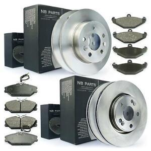4x-Bremsscheiben-Bremsbelaege-vorne-hinten-Renault-Safrane-I-II-B54-3-0-2-0