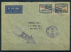 Pedro Sula Briefmarken Honduras 1942 Brief 100% St