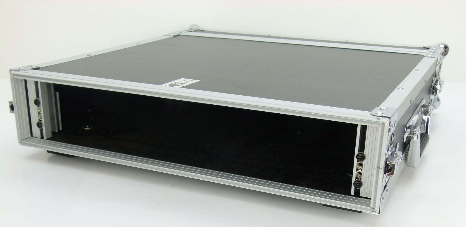 Profi Verstärkerrack PR-1, 2 HE, 47 cm tief Double Door Amprack Flightcase Rack