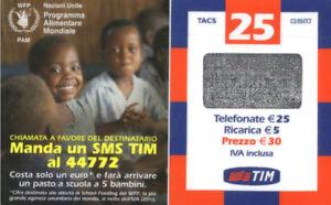 3985 SCHEDA TELEFONICA RICARICA TIM PROGRAMMA ALIMENTARE WFP25-M APR.2006 I6Rm0GGT-09120837-877577935
