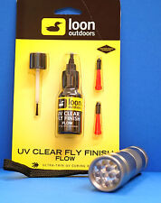 LOON UV Kleber FLOW 2 Dosier-Spitzen & Pinsel & UV LAMPE UV FLOW & UV Torch