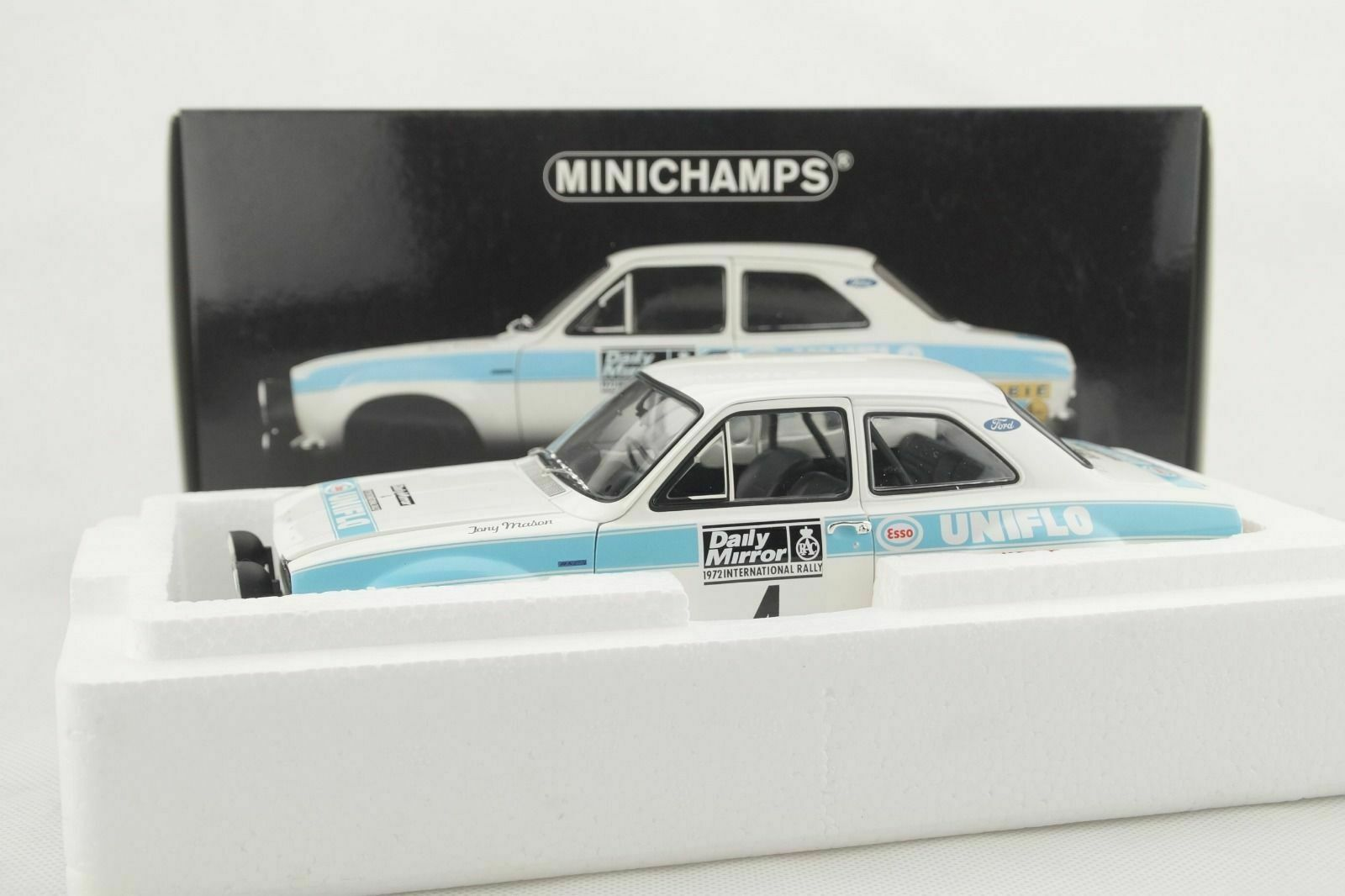 1 18 Minichamps - Ford Escort i Rs 1600 Daily Mirror Rac Rally 1972