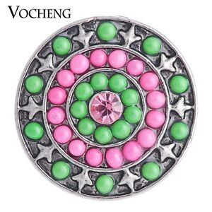Vocheng Snap Charms Chunk Tree of Life Black Painted Design 18mm Vn-1697