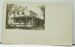 Dansville-NY-Home-Residence-Farmhouse-Real-Photo-Postcard-G15