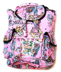 Hipster-Rucksack-Style-Backpack-Pink-Hard-Style-Tattoo