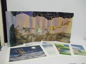 Disney Pooh's Grand Adventure Search For Christopher Robin Lithographs X 4