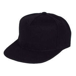 Image Is Loading Blank Five Panel Strapback Ball Cap Black Snap