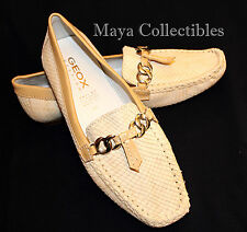 GEOX RESPIRA Ladies Shoes Loafers Beige sz 40 - Made in Brazil New
