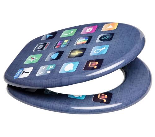 Wc toilettes pot lunettes wc lunettes sièges couvercle avec automatisme de descente App