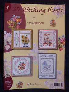 Ann-039-s-Paper-Art-No-6-3D-Embroidery-Stitching-Decoupage-Sheets-Paperback-Booklet