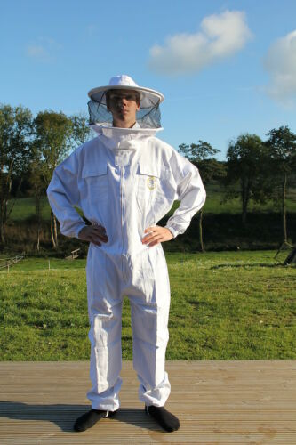Blanc Apiary Additions Apiculture Tunique Avec Voile Rond - Toute Taille