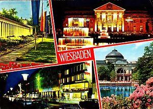 Kurstadt Wiesbaden , Ansichtskarte , 1979 gelaufen - Rostock, Deutschland - Kurstadt Wiesbaden , Ansichtskarte , 1979 gelaufen - Rostock, Deutschland