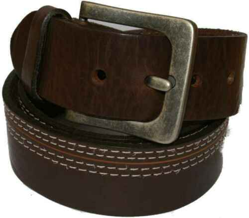 Real Leather Hand Made Brown Belt 1 3//4/' Inch 43mm Stitched  Next R1