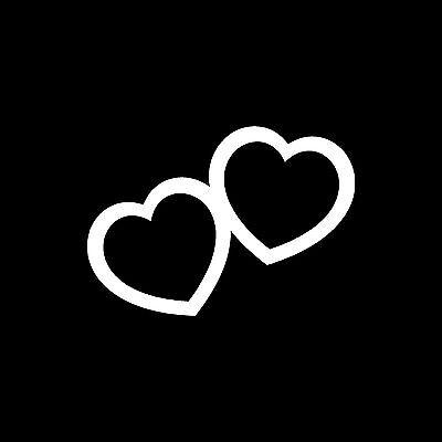 Hearts Sticker Vinyl Decal Cute Valentines Heart Love Couple Car Window Wall