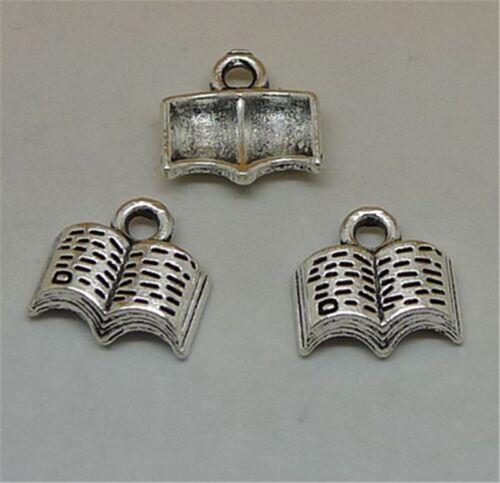 P1022 20pc Tibetan Silver book Charm Beads Pendant accessories wholesale