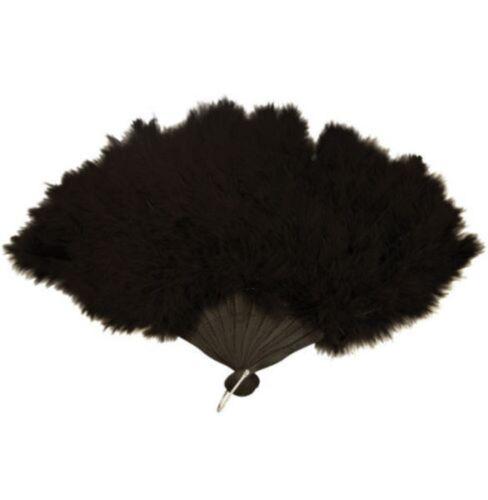 1920/'S FANCY DRESS HEADBAND PEARL BEADS BLACK FAN BOA FLAPPER GLOVES CIG HOLDER