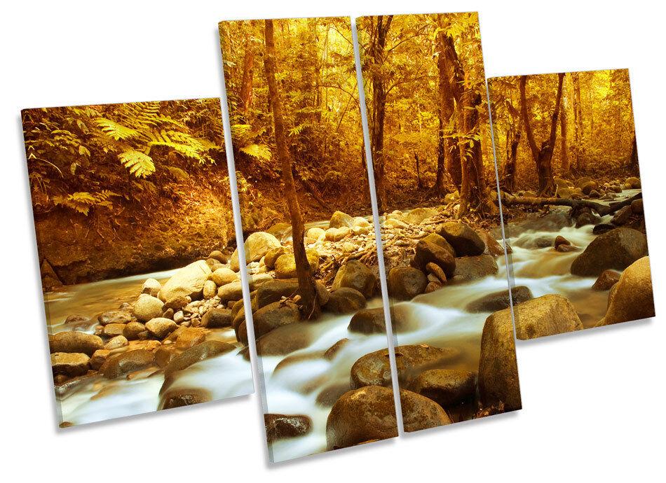 pannello muro a art  FOREST scena paesaggio Fiume Multi