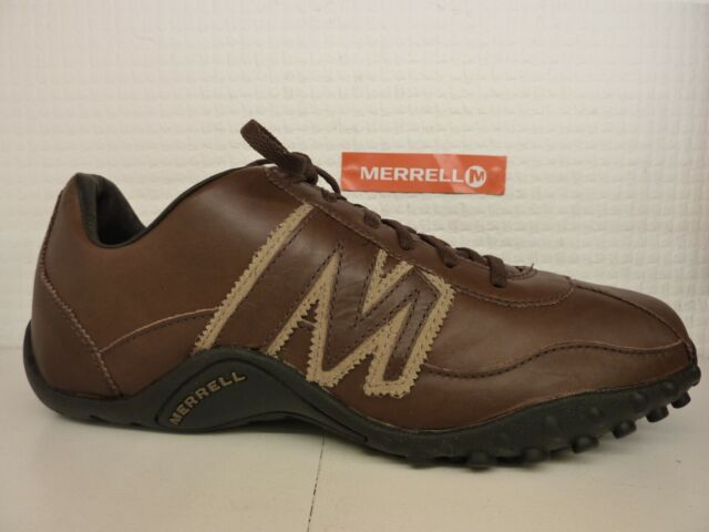 MENS MERRELL TRAVELER SPHERE LACE ESPRESSO BROWN LEATHER TRAINERS SHOES