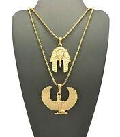 Egyptian Maat & King Tut Chain Set