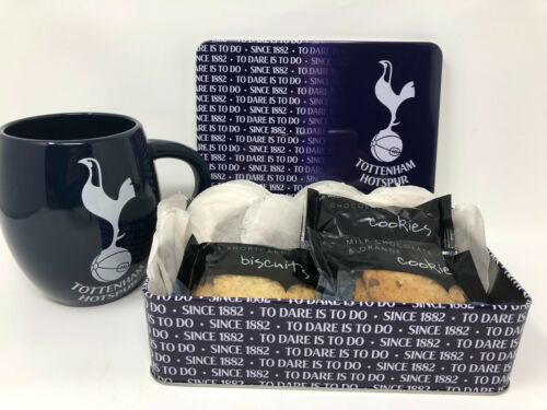 TOTTENHAM TEA biscuits tin Mug Secret Santa Noël cadeaux d/'anniversaire cadeau