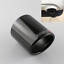1x-Carbon-Fiber-Exhaust-Tip-Cover-Car-Universal-Muffler-Pipe-Shroud-Sleeve-89mm miniature 1
