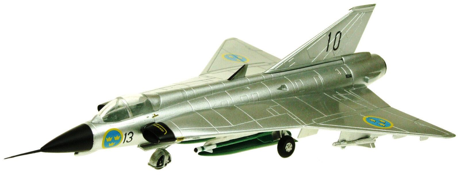 AV7241004 1 72 SAAB DRAKEN J35 13-10 SWEDISH AIR AIR AIR FORCE ALL METAL LIVERY W STAND f6ece6