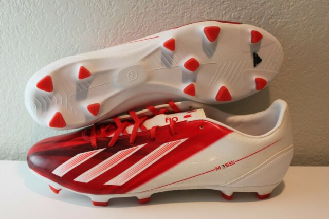 Adidas Messi F10 TRX FG Soccer Cleats, WhiteRed, Men's 11.5
