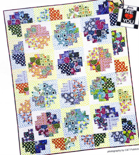 "Sweet Rolls easy pieced quilt PATTERN for 1.5"" or 2.5"" strips"