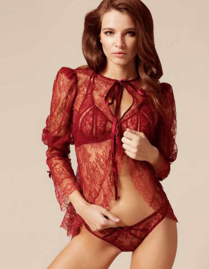 NEW Authentic Agent Provocateur Agent Provocateur Marcia Leavers Lace Jacket oben