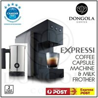 Titanium 2016 Aldi Expressi Capsule Pod Automatic Coffee Machine & Milk Frother