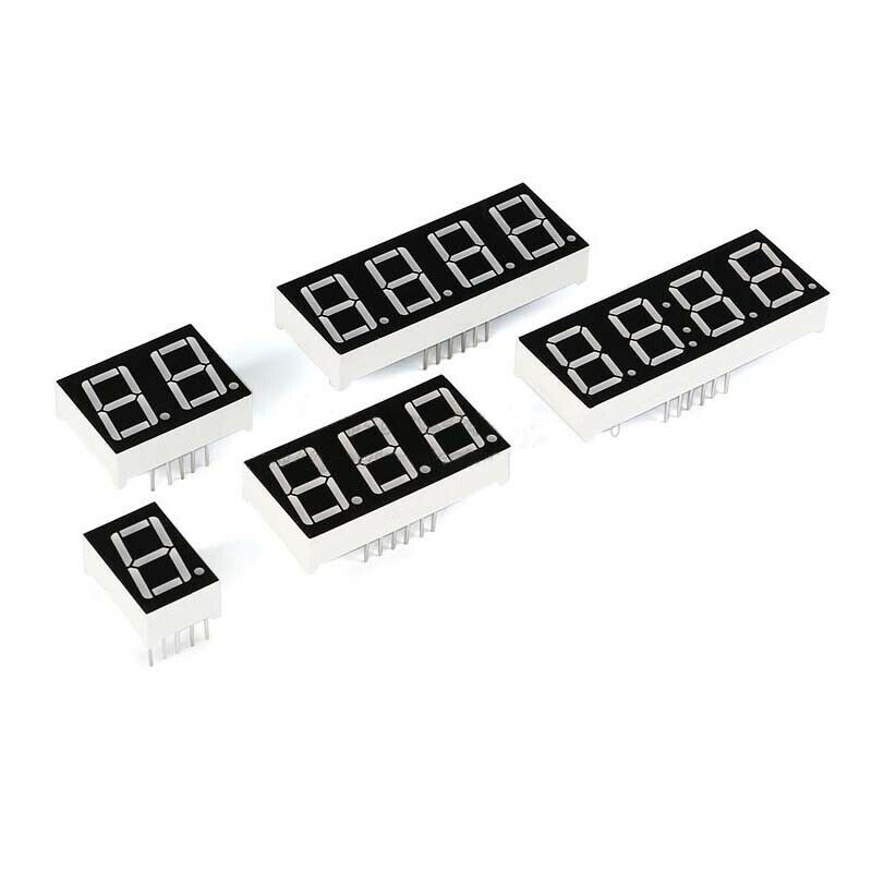 2 PCS MAN6710 0.56 inch seven segment 2 digit numeric display CA red