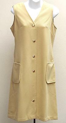 Vintage 1960s dress size 12 UNUSED crimped polyester Caprice SHOP SOILED