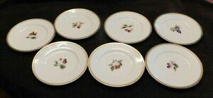 Vintage Set of 7 Nikko Fine Bone China Gold Trim Salad Dessert Plates Japan