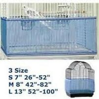 Bird Cage Seed Catcher Small Fits 26 To 52 Inches Around The Cage-blue-free Ship