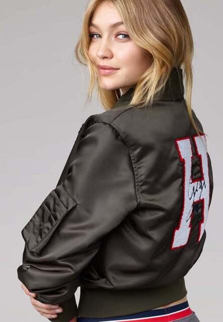 1ee9b700e51 Tommy Hilfiger x Gigi Hadid Embroidered Bomber Jacket size XS