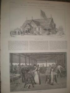 Royal Agricultural show Windsor Queen's Pavilion Butter Making 1889 prints rf AR