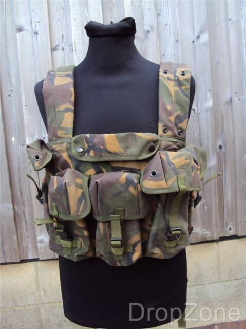 British Military Army Woodland DPM Chest Webbing Rig PLCE Combat Vest Airsoft