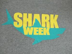 DISCOVERY-CHANNEL-SHARK-WEEK-GREAT-WHITE-GRAY-LARGE-T-SHIRT-F1279