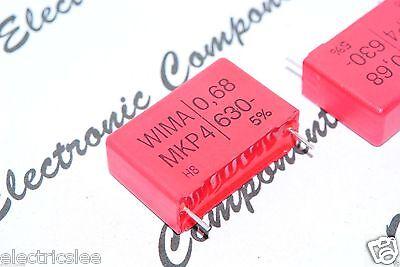 100V 5/% pitch:5mm Capacitor WIMA MKP2 0.68uF 0,68µF 2pcs