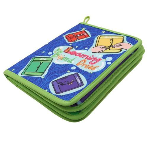 Montessori Learn to Dress Board Quiet Book Zip Snap Button Buckle Lace Toys SD
