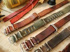 Handmade 1972er Exclusive Vintage NATO Leather Strap 20mm 105.012 105.003