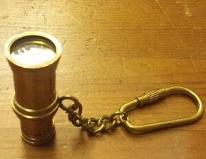 """Vintage Brass, Minocular Spyglass with Keychain (1-7/8"""")"""