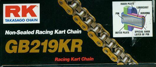 Cart Chain RK 219 Kr Go-Kart Chain New Top Quality for redax, X30, Bambini Etc