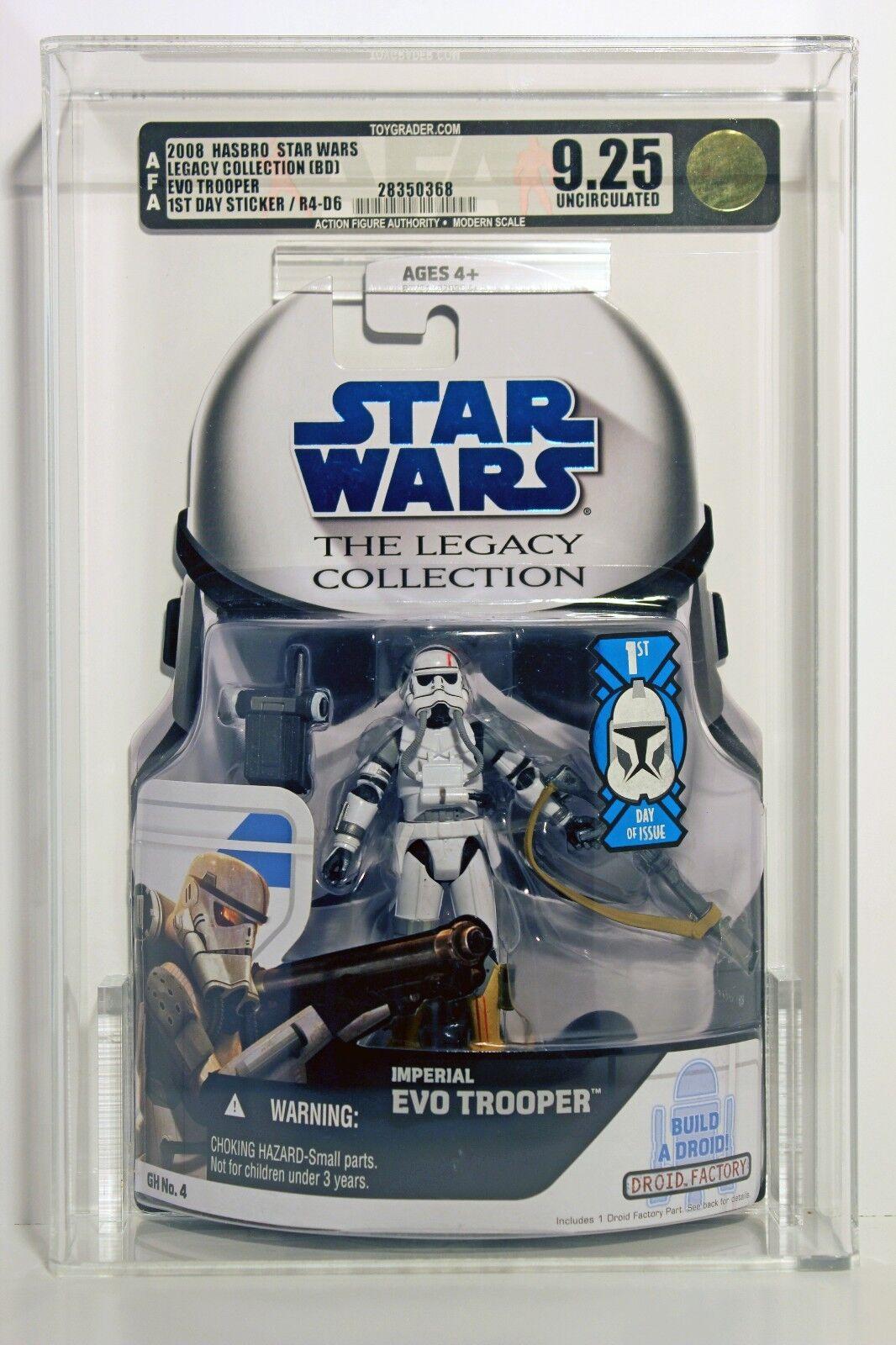 nueva marca Estrella Wars Wars Wars Legado Colección Evo Trooper 1st Día Adhesivo autoridad Figura de Acción 9.25 u Hasbro 2008  moda clasica