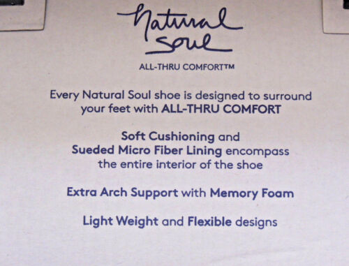 Natural Soul by NATURALIZER Womens Slip-ons Girly Black Loafers M//W Width NEW