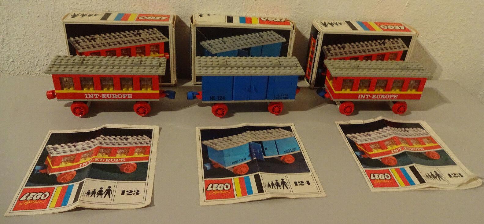i7  LEGO Sistema 123 int-europe 124 MERCI Veicolo con scatola originale & BA