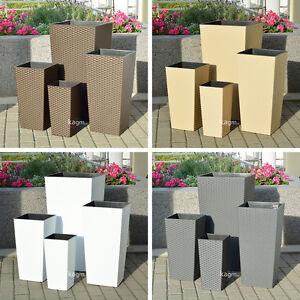 blumenk bel blumentopf pflanzk bel rattan optik bertopf pflanzeinsatz 5 farben ebay. Black Bedroom Furniture Sets. Home Design Ideas