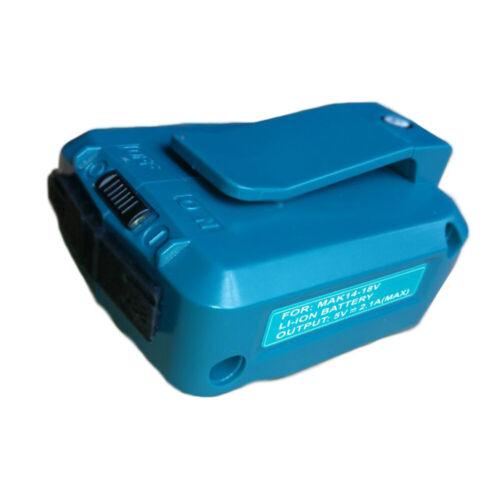 2USB Port Phone Charger Adapter Li-ion Battery For Makita 18V 14.4V BL1830//1430