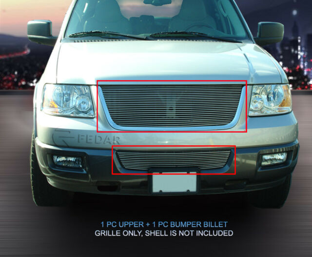 For 03-06 Ford Expedition Billet Grille Grill Insert Combo  Fedar