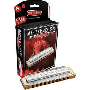 Hohner-Marine-Band-1896-Harmonica-Mouth-Organ-All-Keys-Available-FREE-UK-P-amp-P